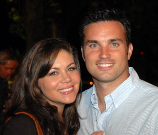 CBS3 Meteorologist Doug Kammerer with his wife Holly Roehl Kammerer
