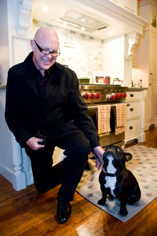 Every Dog Has Its Day<br>Designer Jim Fulton of Philadelphia's Fury Design (www.furydesigninc.com) with his French Bulldog Henry