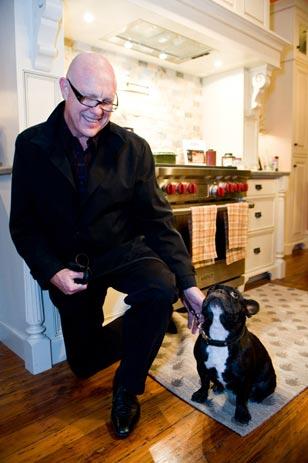 Every Dog Has Its Day<br>Designer Jim Fulton of Philadelphia's Fury Design (www.furydesigninc.com) with his French Bulldog Henry