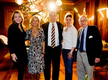 The Movers and Shakers<br>L to R: Doghaus Co-Chair & Co-Founder Lynn Lehocky, NBC10's Dawn Timmeney, PSPCA CEO Howard Nelson, Doghaus Co-Chair, Co-Founder and Designer Rebecca Paul, PSPCA President Beau Sperry