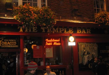 The perfect place for a pint<br>Temple Bar, Dublin