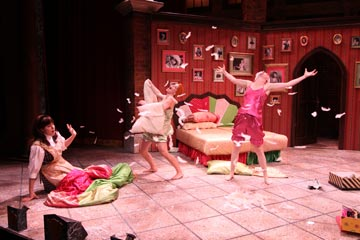 Pillow Fight!<br>A Panto is a comical interpretation of a popular fairytale that encourages audience participation and promises unpredictable twists and turns.