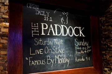 Paddock has a Packed Itinerary of Events and Specials Including Sunday Brunch and Saturday Night Cover Bands.