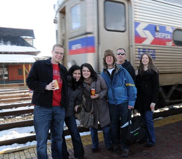 Grab your friends and celebrate safely with SEPTA's affordable and responsible Philly Beer Week promotion. Pictured: The beer lovers from In Pursuit of Ale (www.beerlass.com)
