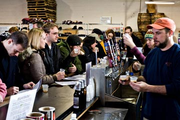 Bottoms up for your brewcation!  Part of the fun of the Saturday brew tours are the free samplings offered for all visitors.