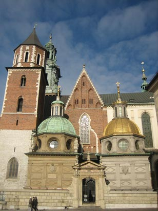 Close to 90% of the Polish population is Roman Catholic. Pictured is Wawel Castle, where Pope John Paul II presided before becoming Pope in Rome.