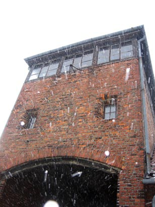 The Gate House at Birkenau, also known as the Auschwitz II concentration camp.
