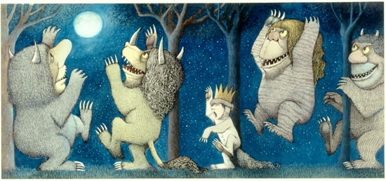 Final drawing for Where the Wild Things Are, written by Maurice Sendak.  Pen and ink, watercolor.  © Maurice Sendak, 1963. All rights reserved.