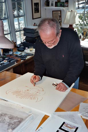 Maurice Sendak in his Connecticut studio, March 2003. Photo courtesy of The Rosenbach Museum