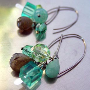 Inspired by raw materials and semi-precious stones, Krista Peel's line of jewelry (kristapeel.etsy.com) is funky, flirty and irresistible. It takes about fifteen minutes to 'open' up an Etsy online store.
