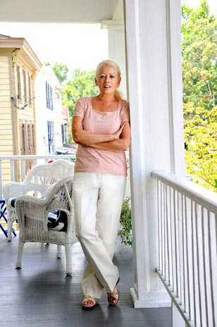 Christine Mullen, Blue Max's Inn beautiful and charming Inn Keeper, will make your stay in Chesapeake City memorable.