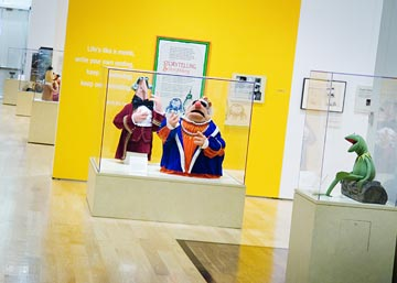 """All cultures across the world have some sort of puppets. Jim Henson was really a very brilliant man, and he was also a very astute businessman so he was able to translate this enormous amount of talent and creativity into a very successful business,"" explained exhibit docent Jean Stevens."