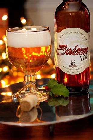 Sly Fox's Saison Vos Corked Bottle is a perfect hostess gift for the season in lieu of the traditional vino.