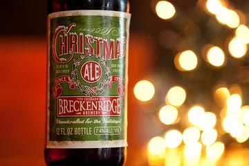 Breckenridge's Christmas Ale, a winter warmer with a 7.5% ABV, pairs well with beef or pork chops.