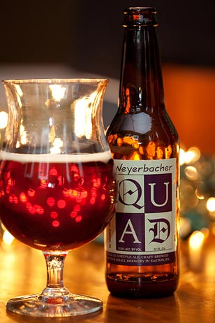 "QUAD is a Belgian style quadrupel brewed by Easton, PA's Weyerbacher Brewery. Guyer recommends it as a perfect Christmas Eve aperitif. ""You grab a bottle of QUAD and put it in a brandy snifter and you are good to go. But, don't build the dollhouse after a few of these… probably not a good idea,"" said Guyer."