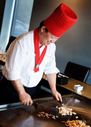 Ooka's teppanyaki keeps patrons of all ages entertained during the popular Hibachi show.
