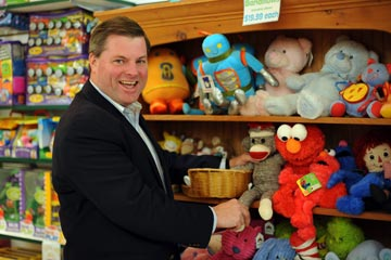 O'Doodles owner Fran O'Donnell embraces an 'unplugged' philosophy when it comes to his toy store.