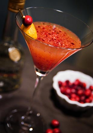 Chef Olga's Cranberry Apple Pie Martini