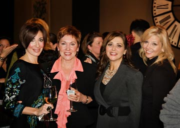 Danielle DiJulio Causey and Jill Ranoia of Wayne's Deme, and Lisa Biernacki and Darcy Miller of Malvern's Kiss and Makeup Beauty Boutique mingle at AML's Monday Night Meetup.