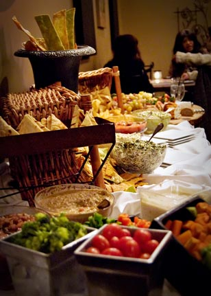 Meridith's provided a generous, complimentary buffet for over 70 attendees to enjoy.
