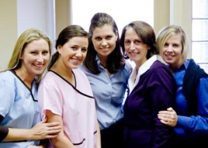 Dr. Foote with her friendly staff at their renovated, state-of-the-art Bryn Mawr office. You can follow Dr. Foote on Twitter: FooteOrtho