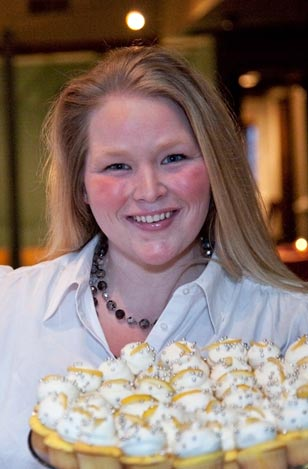 Maryellen Bowers, West Chester's renowned cupcake queen, and official 'rock star' of every AML event, wowed the guests again with her delicious display of over 600 mini gourmet cupcakes.