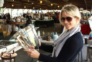 Robson scours suburban Philadelphia flea markets regularly for great treasures for her booming Etsy shop.