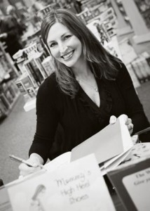 Bucks County native and children's author Kristie Finnan at a recent book signing for Mommy's High Heel Shoes.