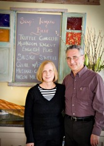 Silverspoon Café in Wayne will be offering a tasty seasonal St. Patty's Day menu at their new locale in the Eagle Village Shops. Pictured are owners Ruth and Ron Silverberg.