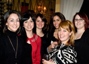 The staff of Wayne's Salon d' Artiste, the Main Line's premier day spa and salon and WNW party sponsor, joined the enthusiastic group of over 40 local women who helped launch Wednesday Night Whinos.