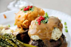Tournedos Baltimore at Chesapeake City's Bayard House restaurant is a star of the menu.