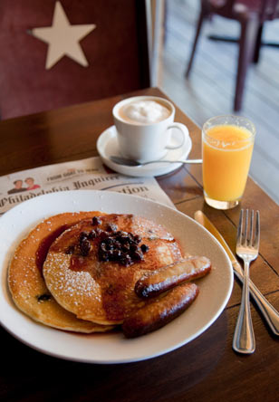 Blueberry Ricotta Pancakes at Bridget Foy's. Photo courtesy of Courtney Apple Photography