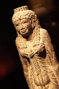 """The exhibition contains """"social tags"""" displayed throughout the exhibit, which encourage and guide visitors in sharing their Cleopatra experience on Twitter, Facebook, Foursquare and other social networks through their mobile devices."""