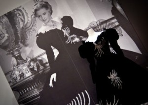 Edith Head (United States, 1907 – 1982) The Great Man's Lady, 1942, Paramount Pictures Barbara Stanwyck as Hannah Sempler Black silk velvet dress with silvered glass beads.