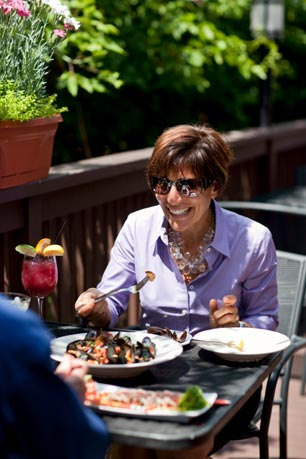 Tango's outdoor deck is located just off the train tracks in Bryn Mawr. Photo courtesy of Courtney Apple Photography
