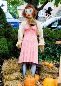 Bigger-than-life scarecrow creations are displayed outdoors and compete for over $5,000 in cash prizes.