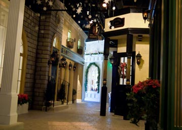 """While attending """"A Christmas Carol,"""" guests are welcome to explore the Byers' Choice Visitor Center, which pays homage to Dickensian England!"""