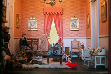 Visitors can enjoy an enchanting antique Victorian dollhouse (circa 1905)--a masterpiece of intricate detail and incredible craftsmanship. Most of the furniture and accessories are original to the house.