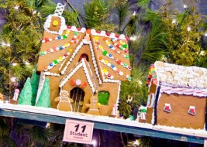 """A """"must see"""" for visitors is the 30th Annual Gingerbread House Competition and Display, featuring more than 100 incredible creations of gingerbread and confection in the Village Gazebo."""