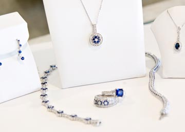 Farnan Jewelers has dedicated an entire case to an exquisite sapphire collection in honor of the upcoming Royal Wedding of Prince William and Kate Middleton this April.