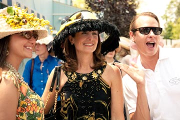 Ladies Day at Devon is on Wednesday, June 1st with the beloved Devon Hat Contest emceed by Carson Kressley.  Photo courtesy of Brenda Carpenter Photography