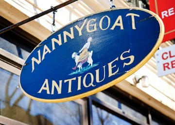 Narberth's Nannygoat Antiques will serve fun beverages for the three day event.  For First Friday May 6th, they will have a wine and cheese party from 5pm to 9pm.