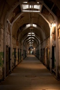 """Eastern State Penitentiary's """"After Dark VIP Tour,"""" the ultimate Halloween experience, begins with an hour-long, guided flashlight walking tour of this National Historic Landmark. Highlights include the cellblocks, Death Row, Al Capone's cell (pictured here), and the underground punishment cells below Cellblock 14."""