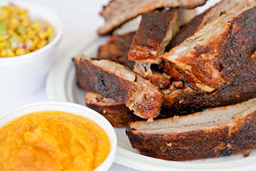 Jimmy's BBQ is an authentic BBQ joint serving delicious ribs, brisket, pork, chicken and sausage. With tailgating season just around the corner, Jimmy's BBQ makes a great choice!