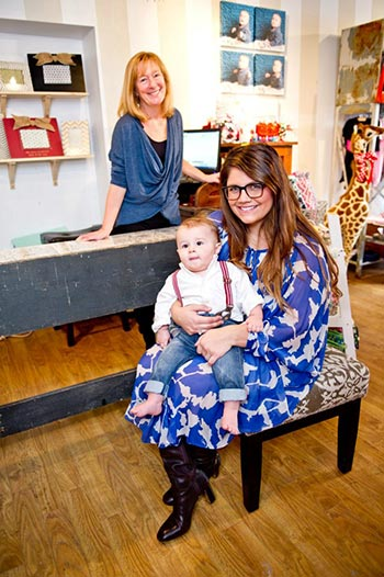 Upper Gwynedd native Brittany Bollard is the brains and beauty behinds Ambler's new baby boutique, Hatch. Bollard, here with son Wyatt and mother-in-law Jill, was a highly sought after celebrity stylist for years in LA, working regularly with actress Reese Witherspoon among other high profile clients.