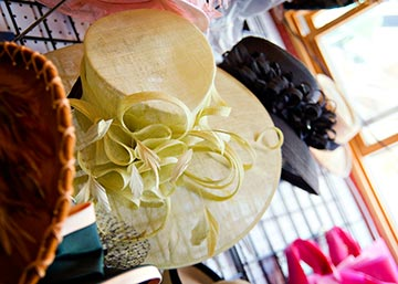 Ladies looking for a hat to sport at the contest can find plenty to choose from at Devon's official milliner-Hats by Katie. Photo courtesy of Belle Vie Photography.