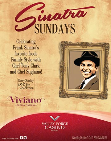 Sinatra Sundays at Valley Forge Casino Resort! Luck Be a 'Hungry' Lady Tonight!
