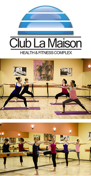 We are excited for this evening of fitness, fun, food and friendship at Club La Maison!