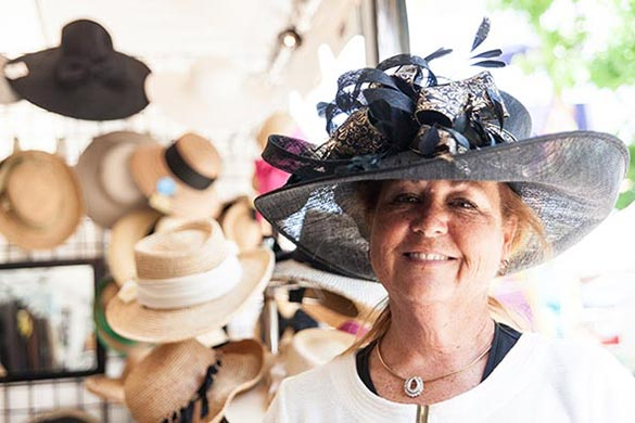 Hats by Katie styles many of the Main Line women who attend the popular Ladies Day Hat Contest each year-being held on Wednesday, May 28th.