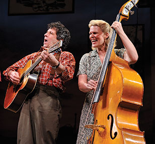 Co-devisor Nick Crowley directs a talented ensemble of four actors, who collectively play over 30 of Guthrie's songs on acoustic instruments ranging from guitar, violin, autoharp, banjo, harmonica, and spoons.
